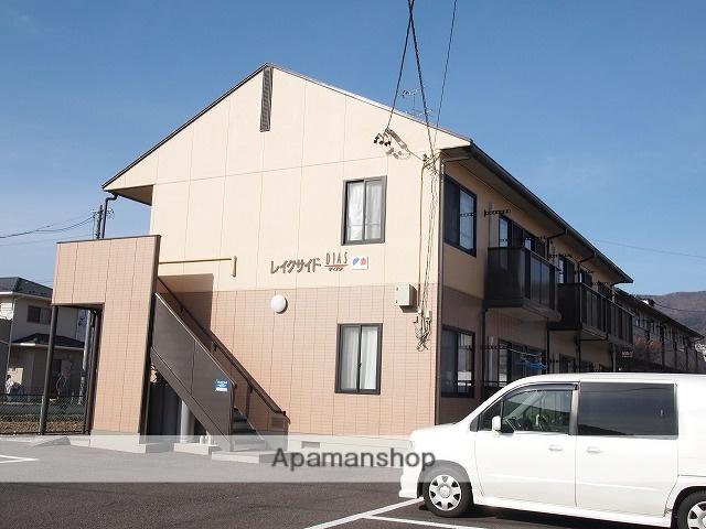 長野県諏訪市、上諏訪駅カリンチャンバス(外)西口バス13分島崎 下車後徒歩6分の築20年 2階建の賃貸アパート