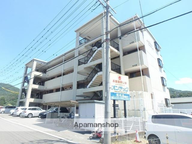 長野県松本市、松本駅バス9分富士電機前下車後徒歩11分の築21年 4階建の賃貸マンション