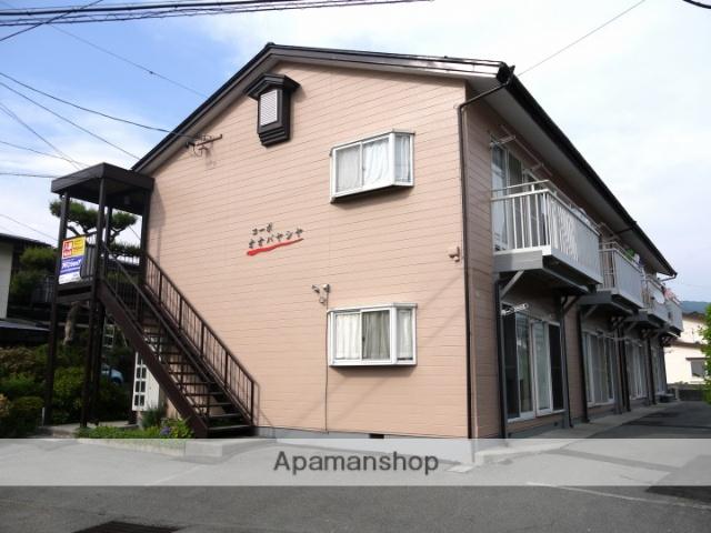長野県諏訪市、上諏訪駅諏訪バス㈱バス18分文出下車後徒歩1分の築25年 2階建の賃貸アパート