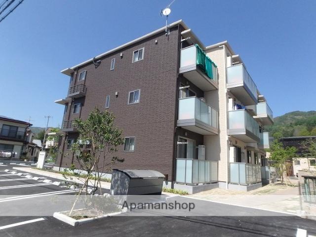 長野県諏訪市、上諏訪駅徒歩17分の築1年 3階建の賃貸マンション