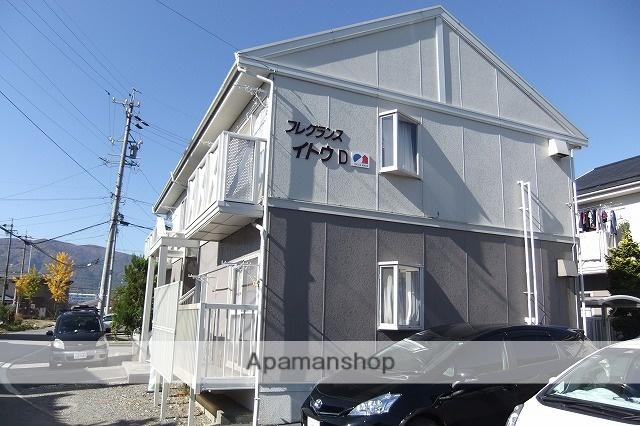 長野県諏訪市、上諏訪駅バス32分諏訪インター前下車後徒歩6分の築25年 2階建の賃貸アパート