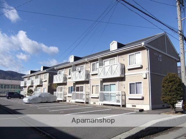 長野県諏訪市、上諏訪駅諏訪バス㈱バス21分飯島下車後徒歩4分の築26年 2階建の賃貸アパート