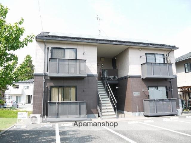 長野県松本市、広丘駅徒歩45分の築18年 2階建の賃貸アパート