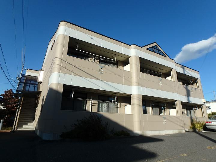 長野県松本市、松本駅バス15分松岡口下車後徒歩5分の築15年 2階建の賃貸マンション