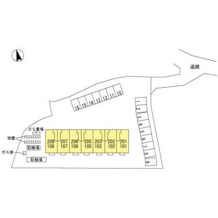 長野県松本市横田2丁目[1R/29.95m2]の配置図