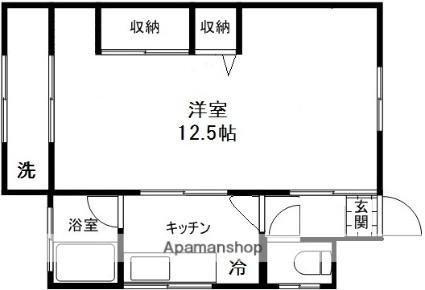 南風荘[1K/30m2]の間取図