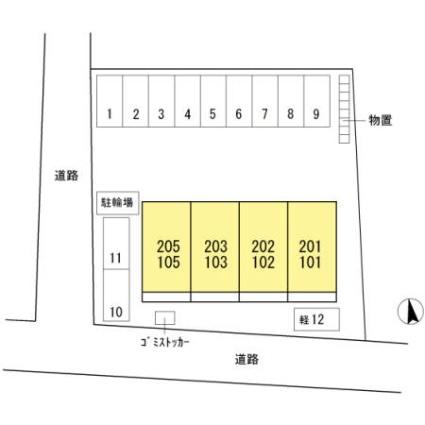 長野県長野市大字高田[2LDK/80.49m2]の配置図