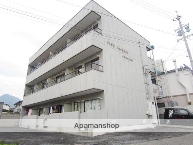 長野県長野市、市役所前駅徒歩7分の築27年 3階建の賃貸マンション