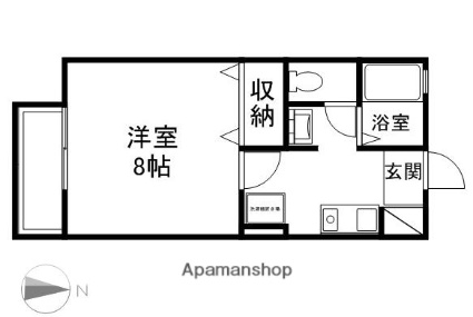 ジュネス吉田[1K/26.71m2]の間取図