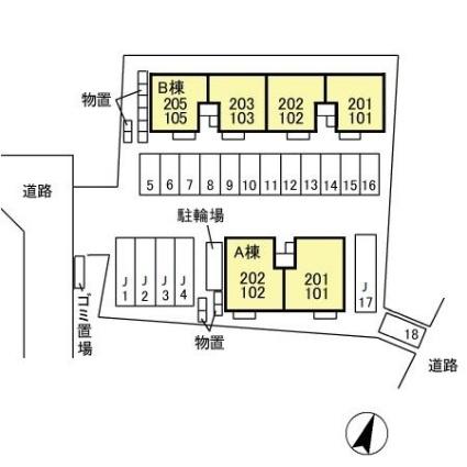 トミユウ・ボラタ AB[2LDK/62.1m2]の配置図