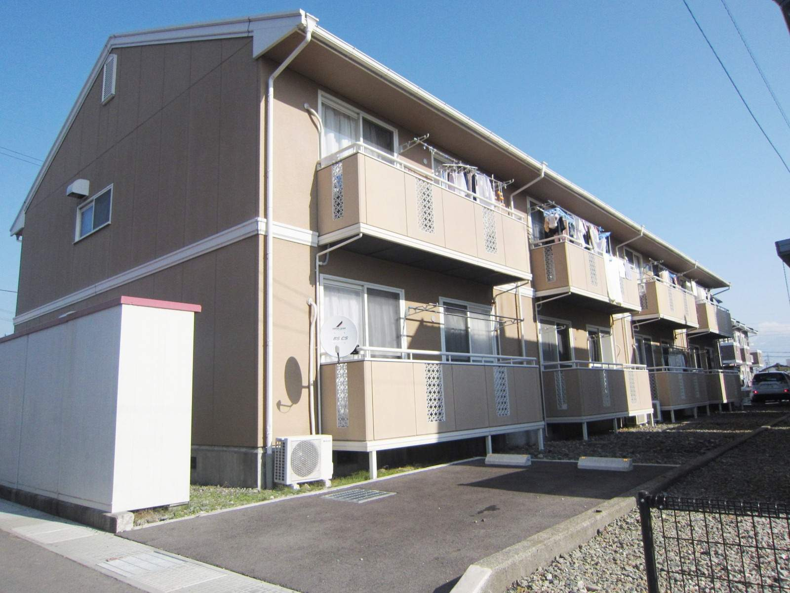 長野県長野市、北長野駅徒歩26分の築25年 2階建の賃貸アパート