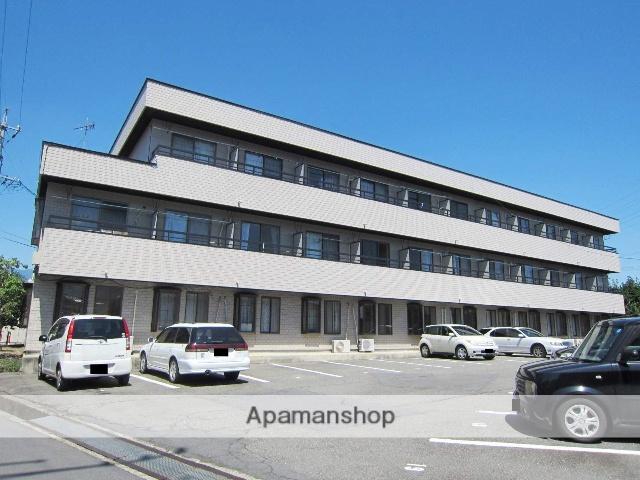 長野県長野市、朝陽駅徒歩23分の築30年 3階建の賃貸マンション
