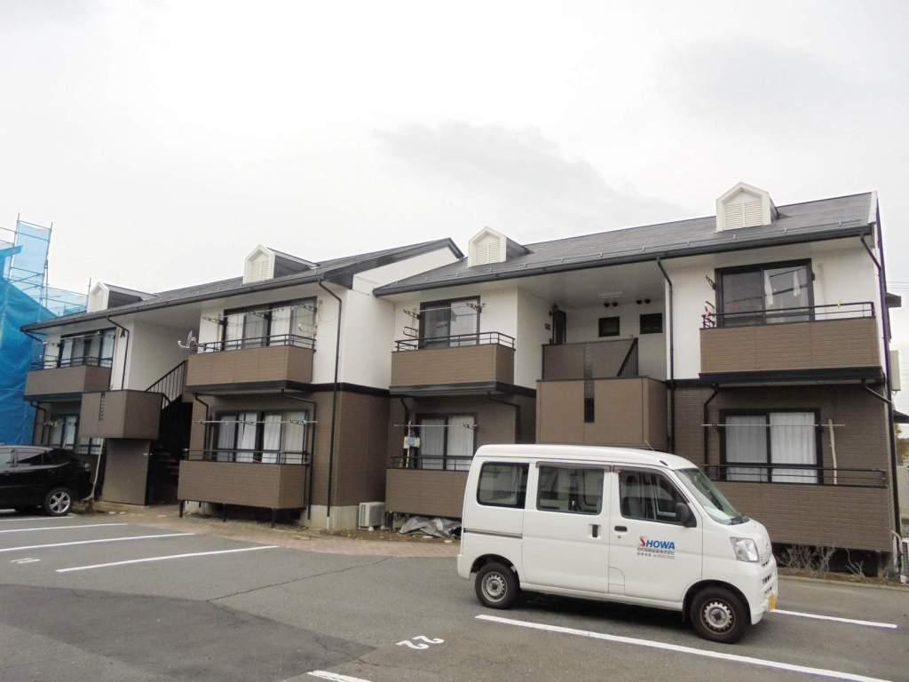 長野県松本市、松本駅バス14分高宮下車後徒歩7分の築21年 2階建の賃貸アパート