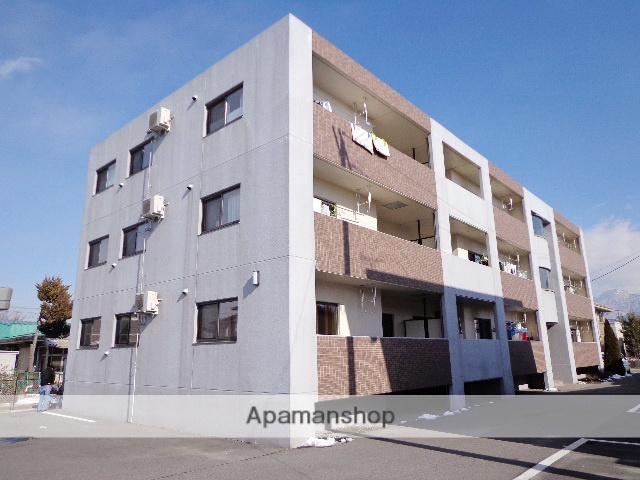 長野県松本市、松本駅バス11分笹部下車後徒歩3分の築12年 3階建の賃貸マンション
