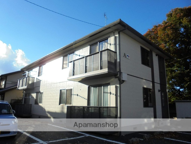 長野県松本市、松本駅バス10分西筑摩下車後徒歩4分の築18年 2階建の賃貸アパート