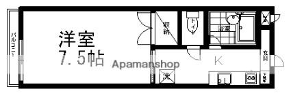 長野県松本市旭1丁目[1K/23.51m2]の間取図