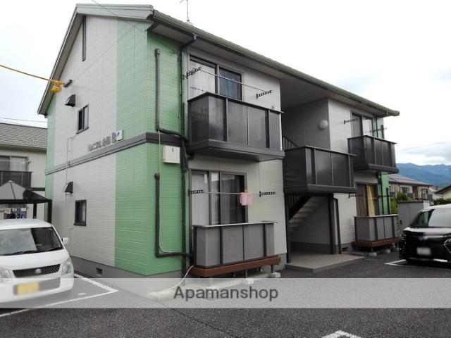 長野県松本市、松本駅バス17分笹部下車後徒歩5分の築17年 2階建の賃貸アパート