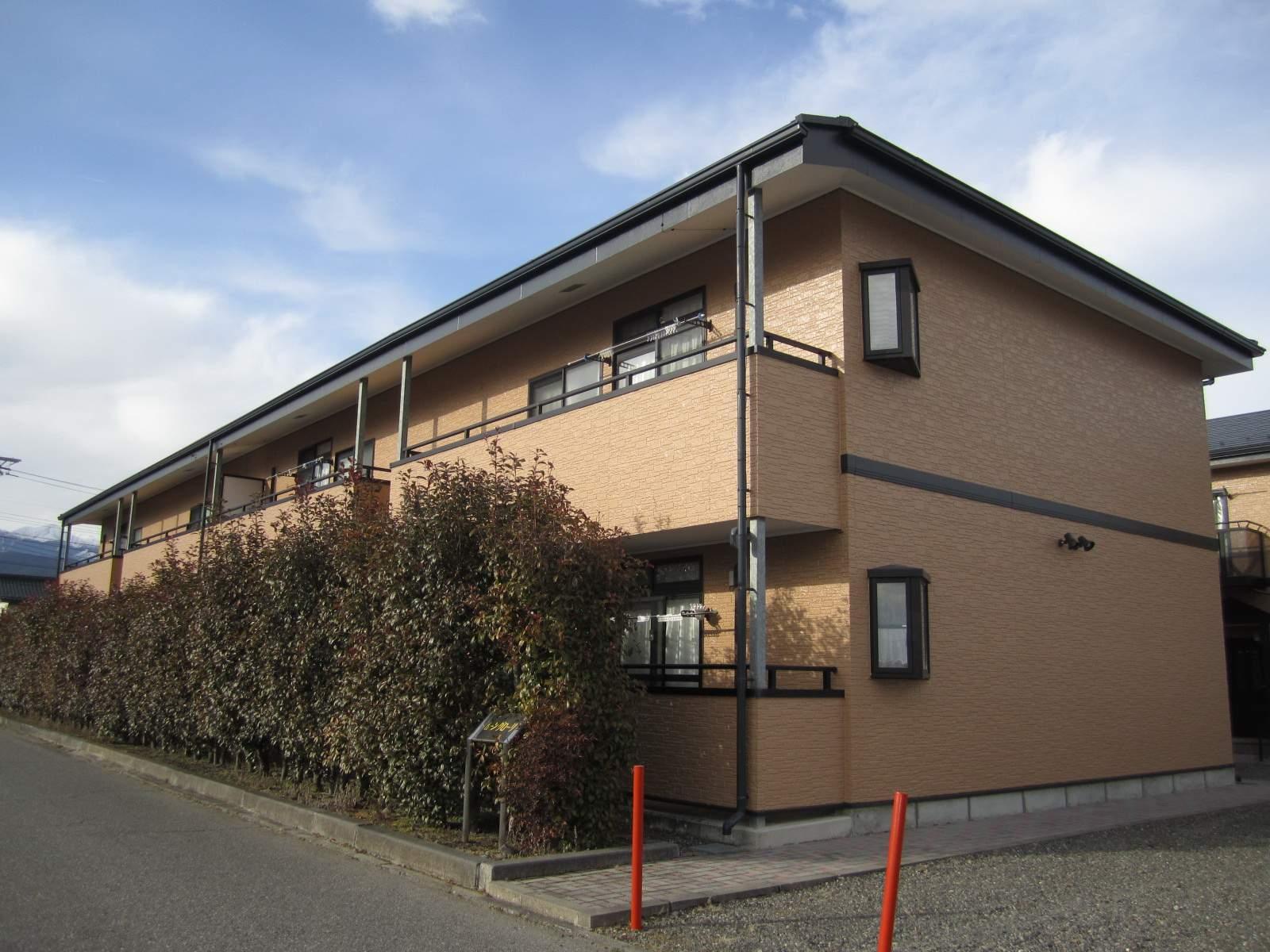 長野県安曇野市、一日市場駅徒歩28分の築12年 2階建の賃貸アパート