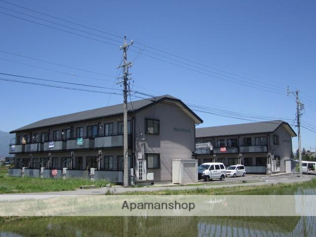 長野県安曇野市、田沢駅徒歩30分の築17年 2階建の賃貸アパート
