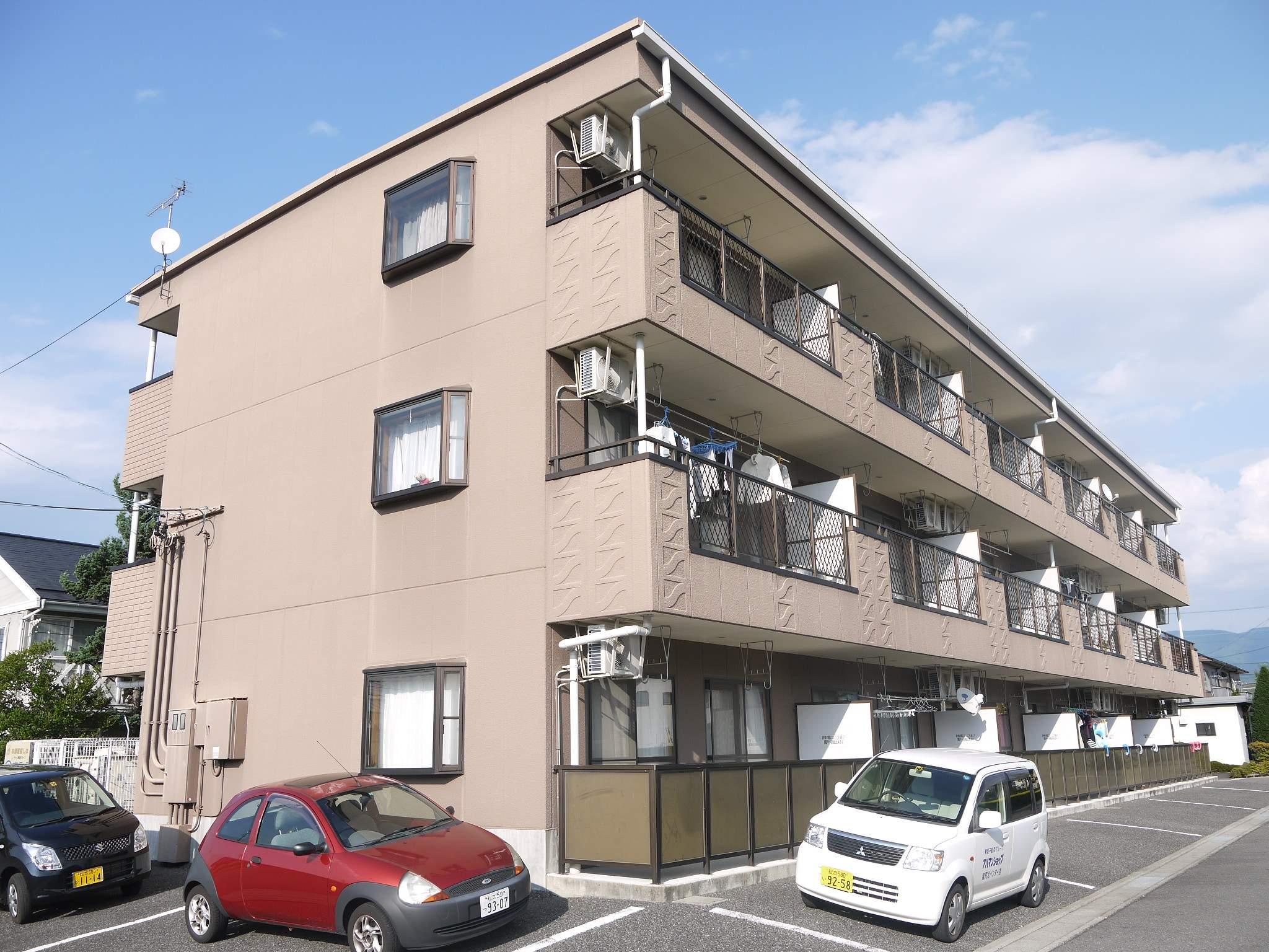 長野県松本市、松本駅バス17分下二子下車後徒歩6分の築22年 3階建の賃貸マンション