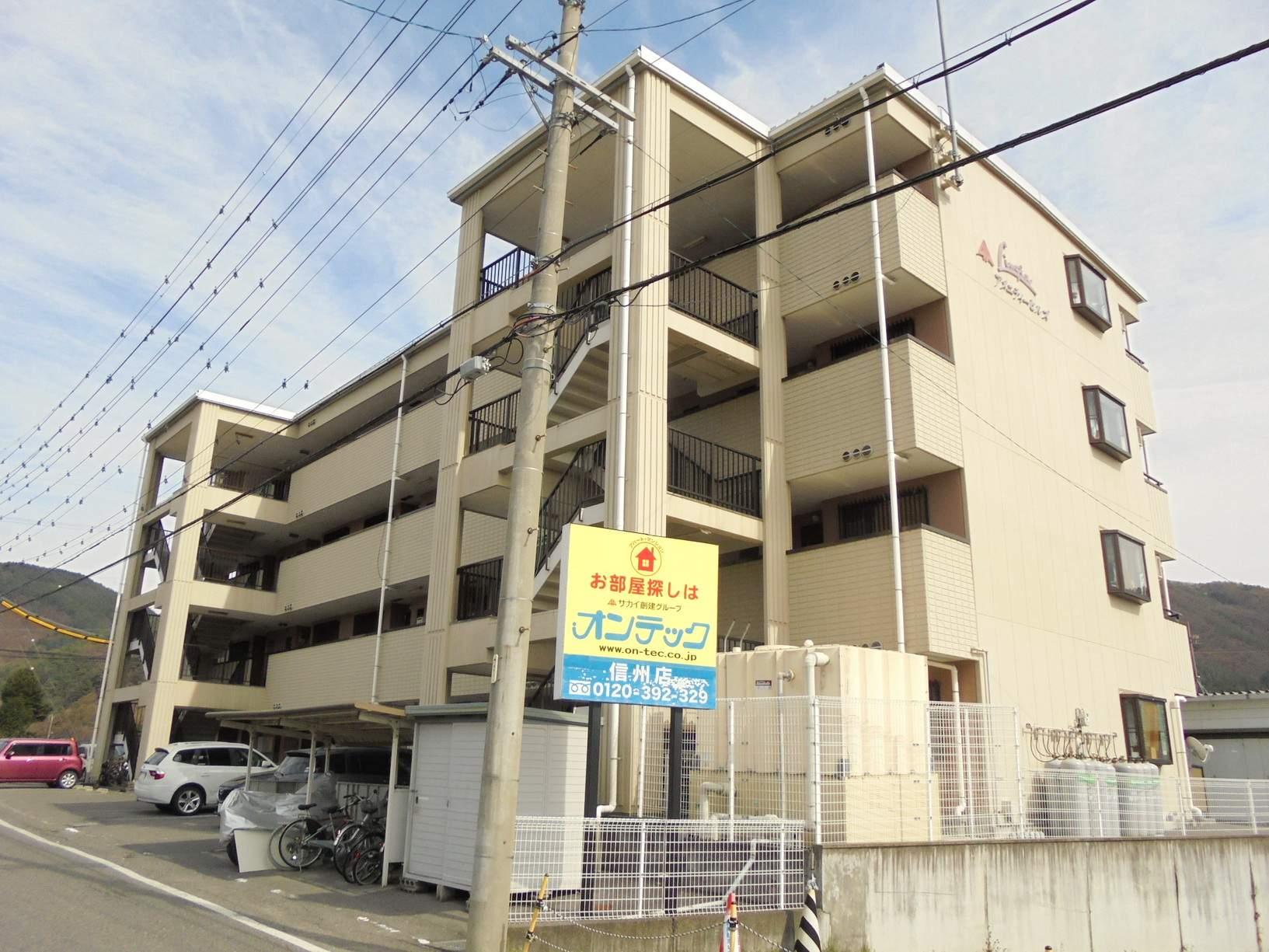 長野県松本市、松本駅バス15分富士電機前下車後徒歩10分の築21年 4階建の賃貸マンション