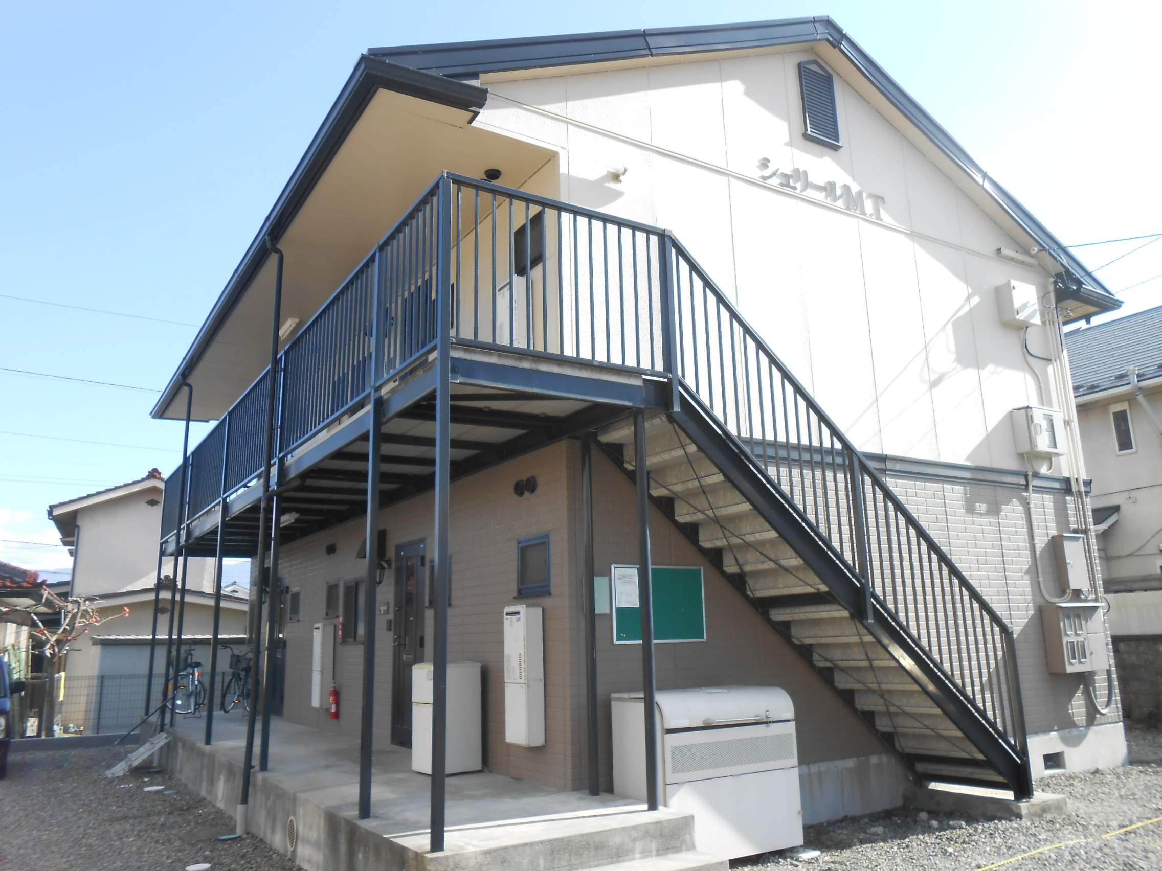長野県松本市、平田駅バス24分神林出張所下車後徒歩1分の築20年 2階建の賃貸アパート