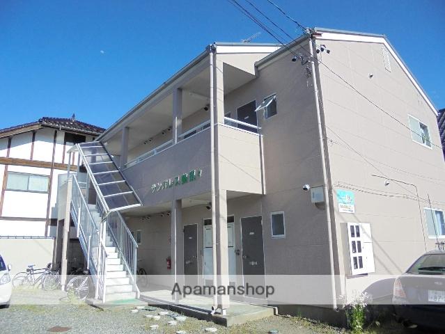 長野県松本市、松本駅バス15分追分下車後徒歩4分の築25年 2階建の賃貸アパート