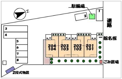 グランカーサ[1LDK/43.8m2]の配置図