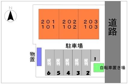 ミニョン アンジュ[2LDK/63.49m2]の配置図