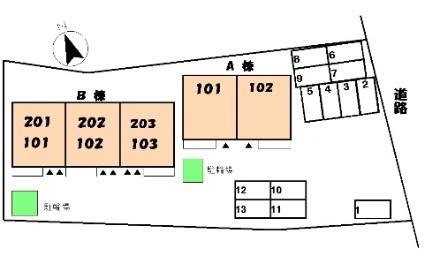 クレストールi B[3LDK/65.57m2]の配置図