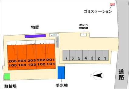 ダイヤモンドMOON Ⅰ[1K/30.79m2]の配置図