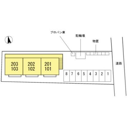 長野県長野市大字南堀[2DK/47m2]の配置図