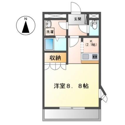 グランディール・オクダ[1K/30.15m2]の間取図