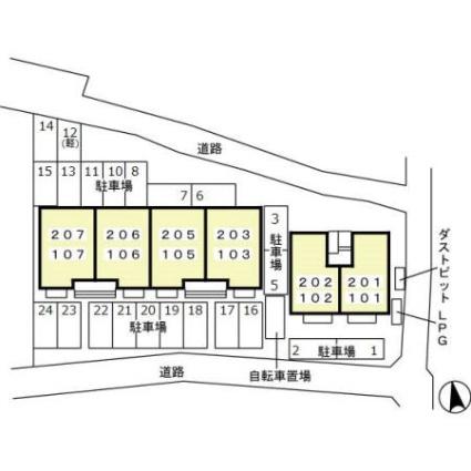 岐阜県岐阜市木田[2LDK/63.63m2]の配置図