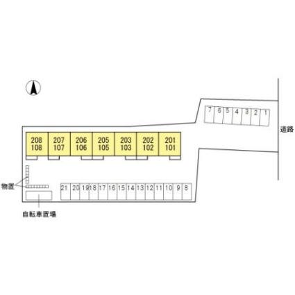 岐阜県岐阜市黒野[1LDK/36.14m2]の配置図