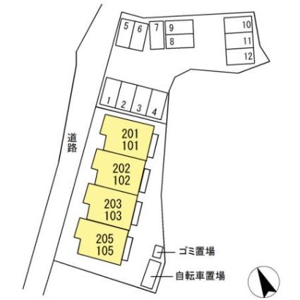 静岡県富士市厚原[2LDK/50.91m2]の配置図