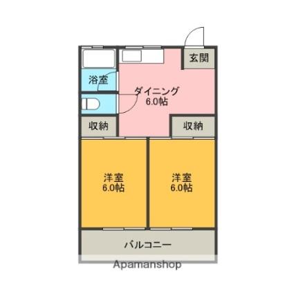 遠藤マンション[2DK/39.6m2]の間取図