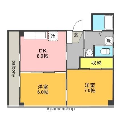 遠藤ハイツC[2DK/49.91m2]の間取図