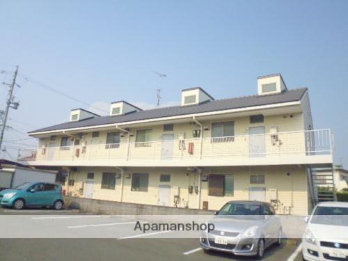 静岡県浜松市中区、浜松駅遠鉄バスバス13分博物館下車後徒歩4分の築30年 2階建の賃貸アパート
