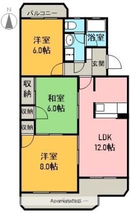 ボナール田園[3LDK/66.89m2]の間取図