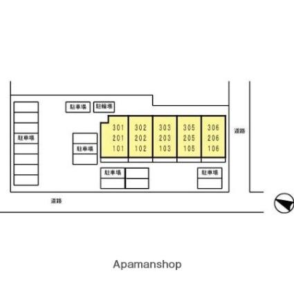 静岡県富士市南松野[1LDK/42.86m2]の配置図