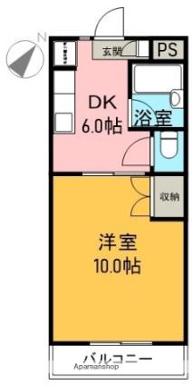 鈴信マンション[1DK/30.29m2]の間取図