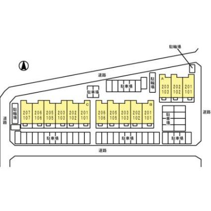 SERENO ⅲ[1LDK/50.04m2]の配置図