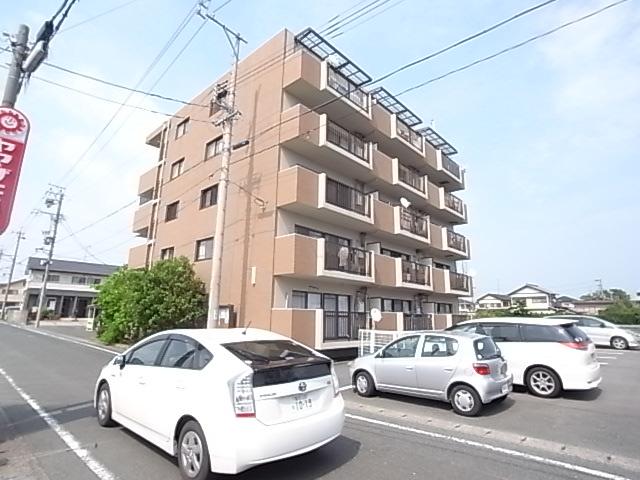 静岡県浜松市東区、天竜川駅徒歩30分の築23年 5階建の賃貸マンション