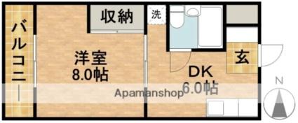 静岡県浜松市北区根洗町[1DK/25.92m2]の間取図