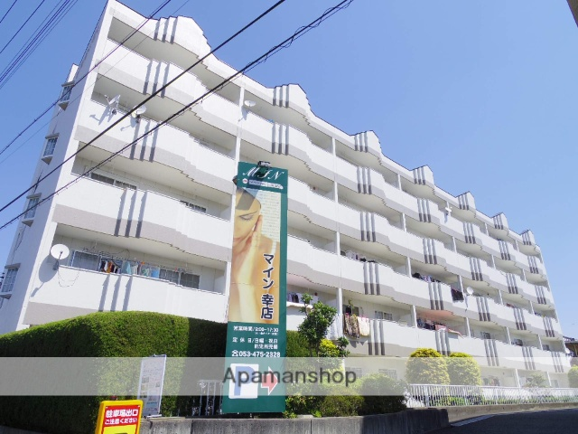 静岡県浜松市中区、浜松駅遠鉄バスバス20分幸南下車後徒歩1分の築27年 5階建の賃貸マンション