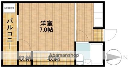 静岡県浜松市東区半田山4丁目[1K/20.98m2]の間取図
