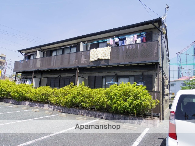 静岡県浜松市西区、浜松駅遠鉄バスバス30分西山団地下車後徒歩1分の築18年 2階建の賃貸アパート