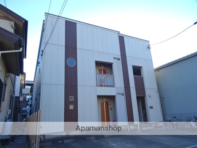 静岡県浜松市中区、浜松駅遠州鉄道バス36分基地東下車後徒歩6分の築11年 2階建の賃貸アパート