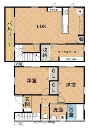 静岡県浜松市浜北区小松[2LDK/78.4m2]の間取図